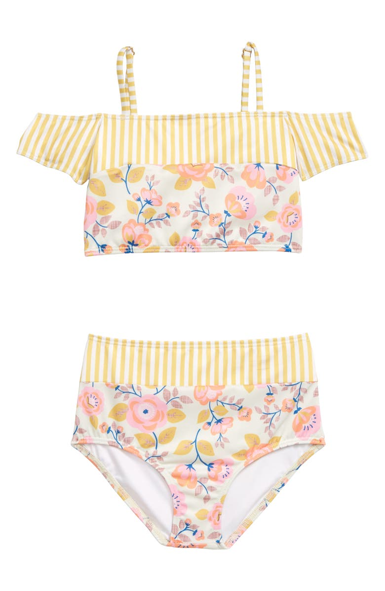 HEART AND HARMONY Wallflower Two-Piece Swimsuit, Main, color, MULTI PINK