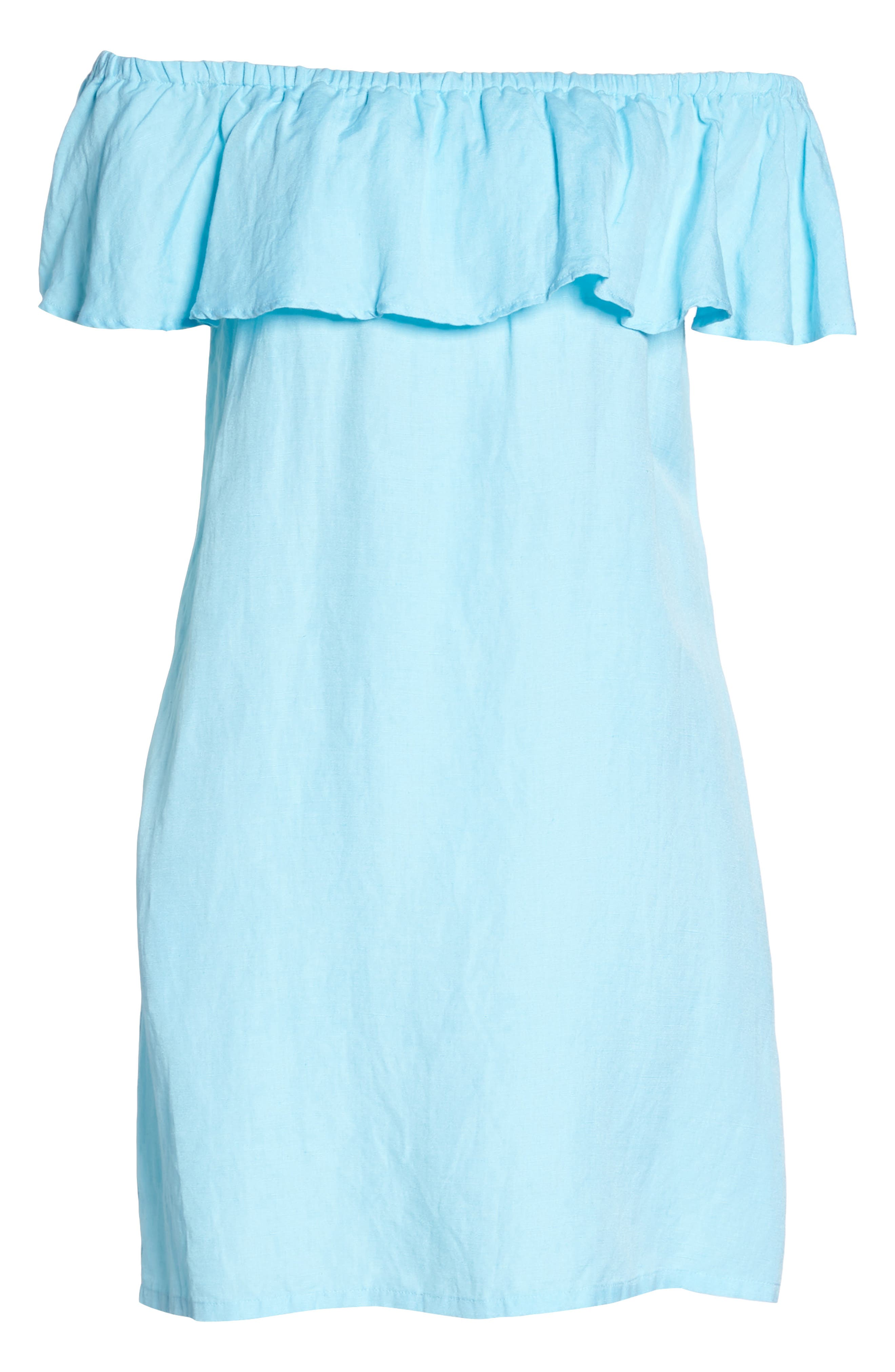 ,                             Off the Shoulder Cover-Up Dress,                             Alternate thumbnail 25, color,                             402