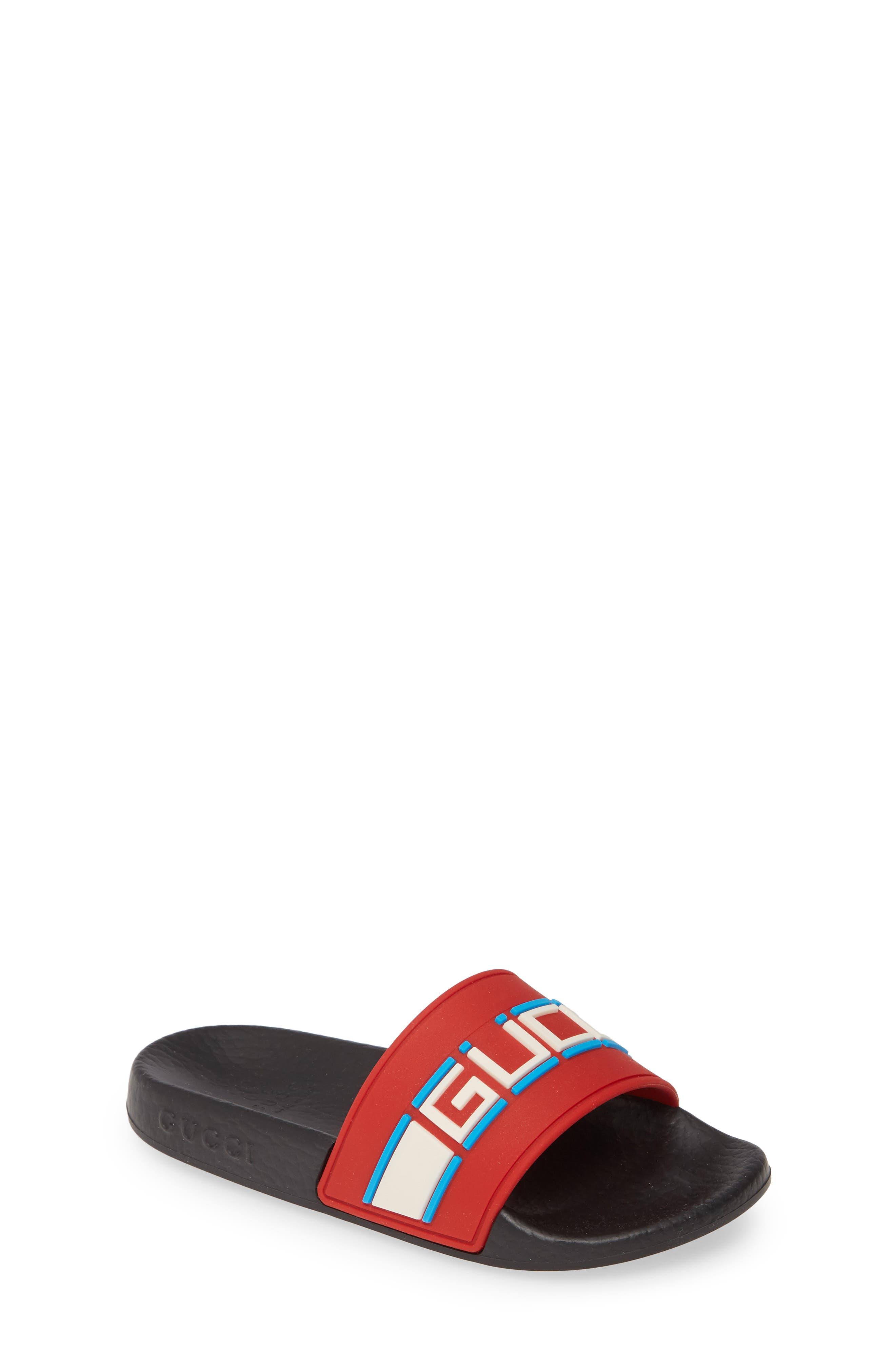 Toddler Gucci Pursuit Logo Slide Sandal Size 1US  32EU  Red