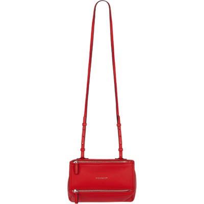 Givenchy Mini Pandora Sugar Leather Shoulder Bag - Red