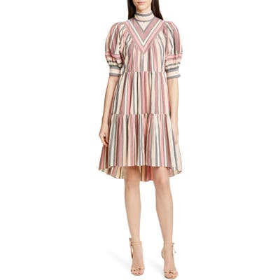 Ulla Johnson Jupiter Tiered Minidress, Brown