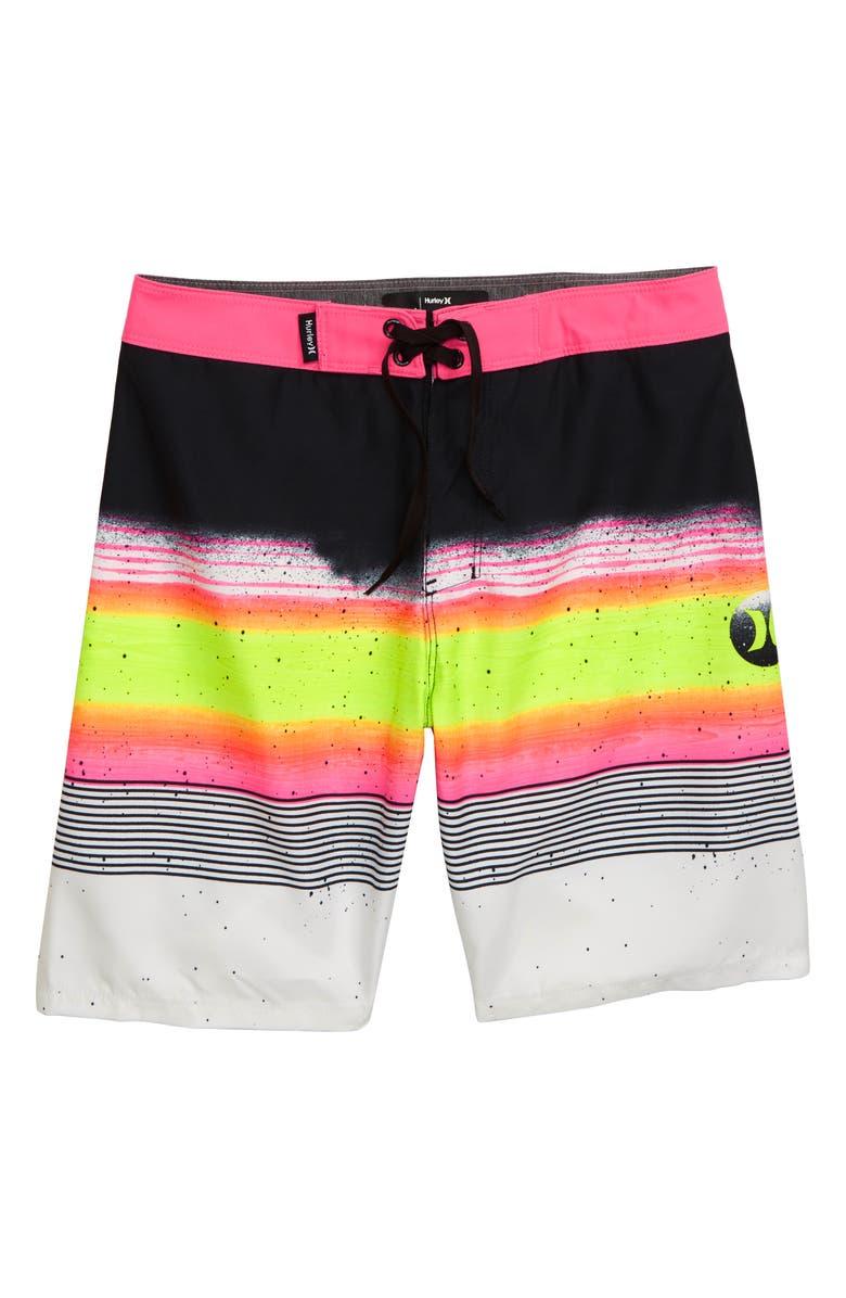 HURLEY Overspray Board Shorts, Main, color, BLACK