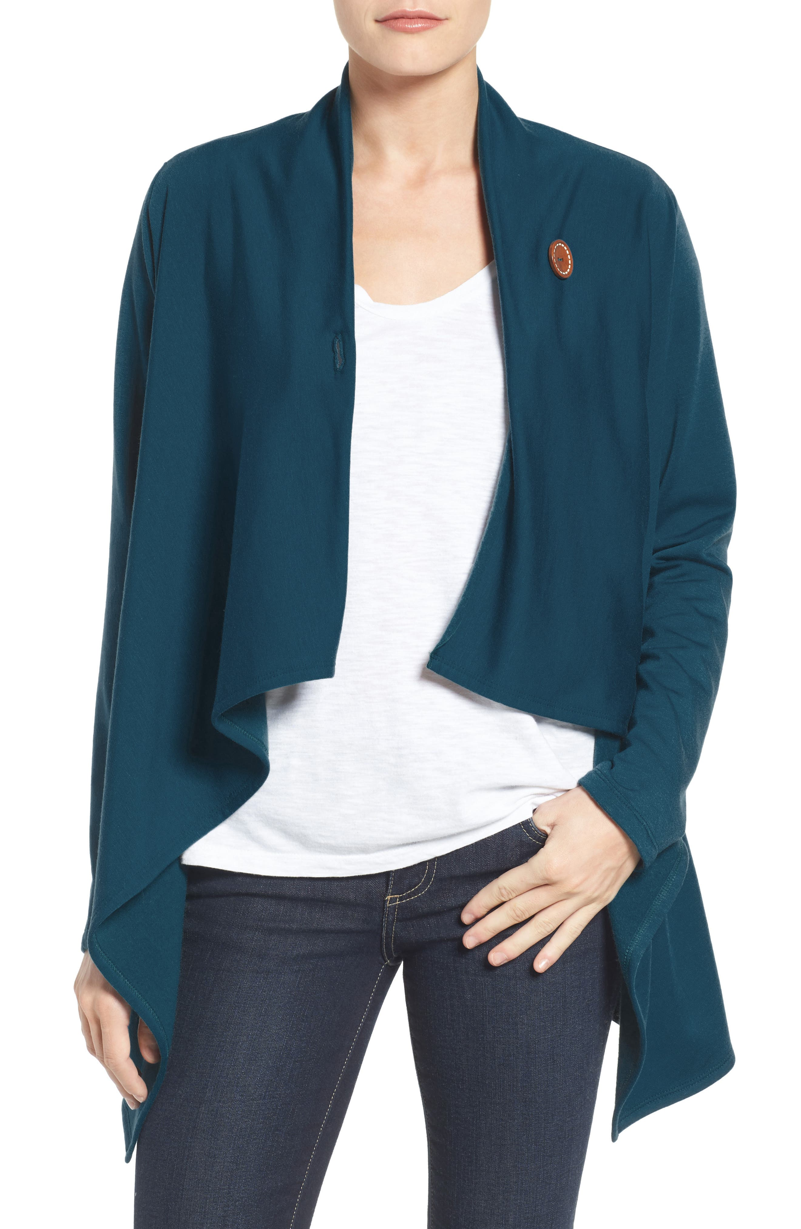 ,                             One-Button Fleece Wrap Cardigan,                             Alternate thumbnail 73, color,                             305