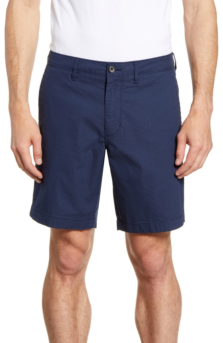 1901 Ballard Slim Fit Seersucker Shorts, Main, color, 410