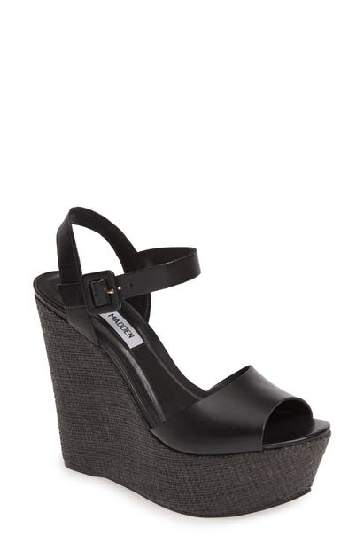 e1e5c72d85b Citrus Platform Wedge Sandal in Black Leather