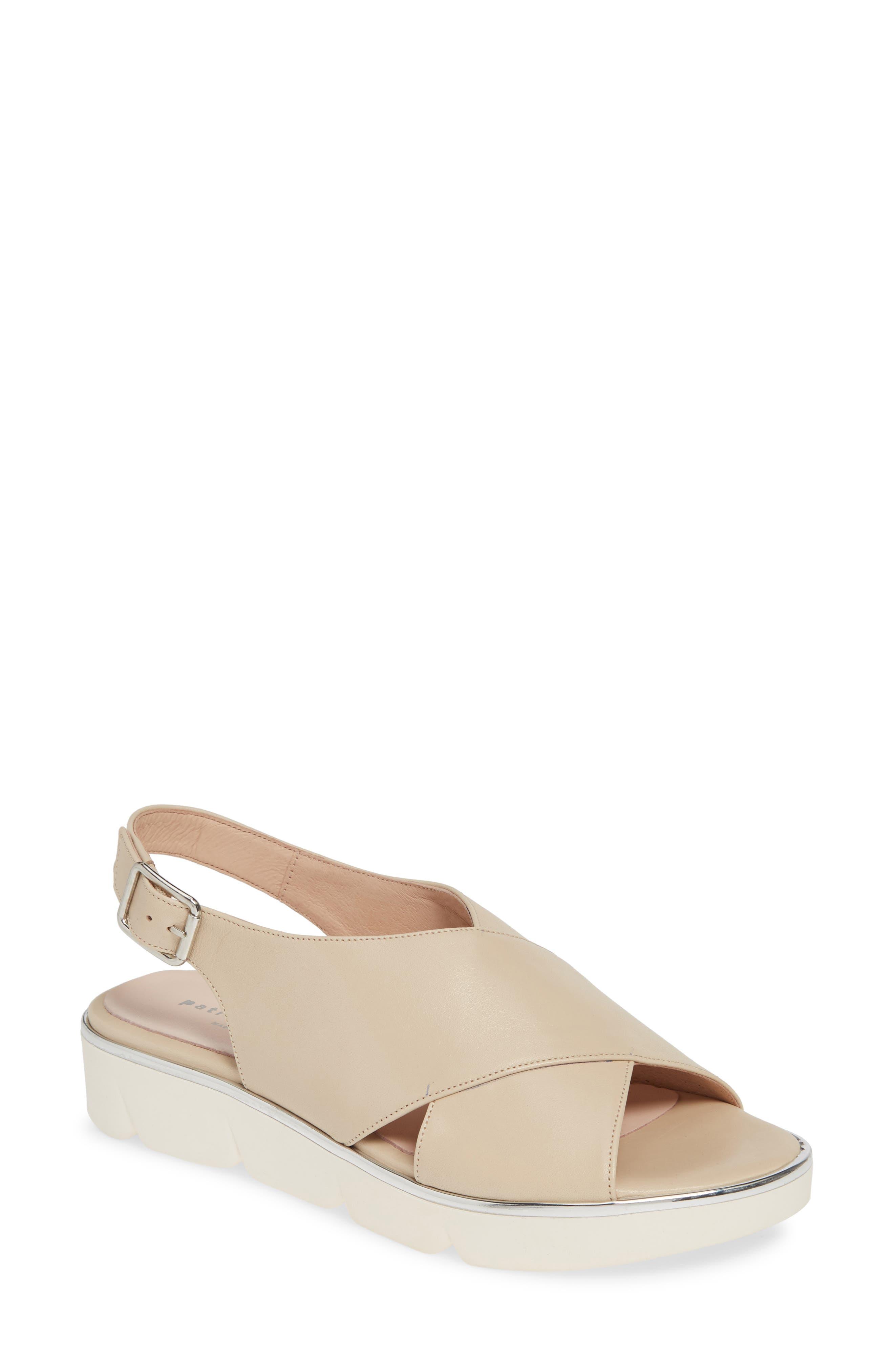 Patricia Green Candace Slingback Wedge Sandal, Beige