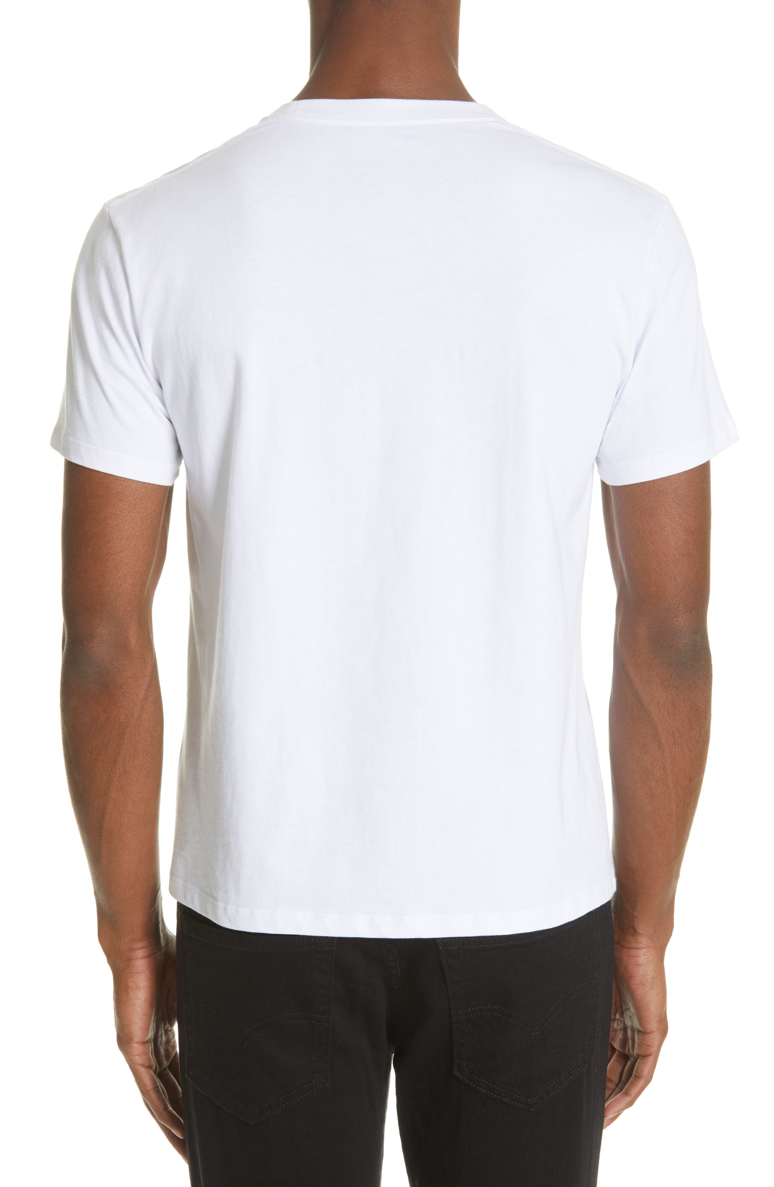 ,                             Pierced Mouth Graphic T-Shirt,                             Alternate thumbnail 2, color,                             WHITE
