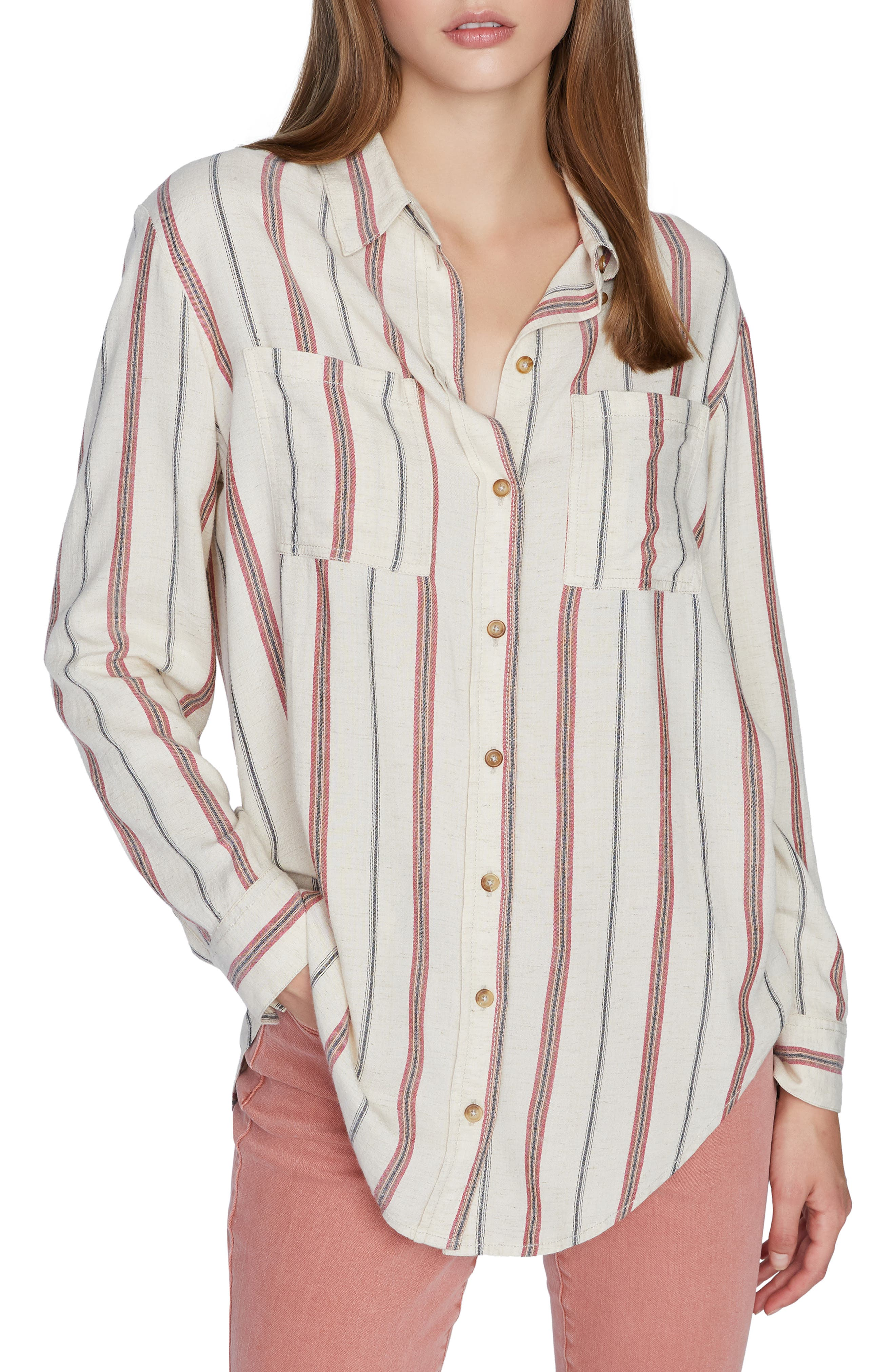 Image of Sanctuary Paradise Cove Striped Tunic Shirt