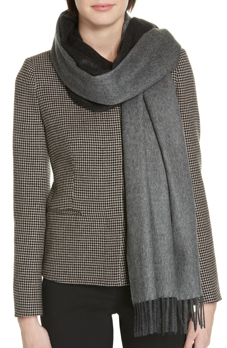 MAX MARA Cashmere Scarf, Main, color, 001