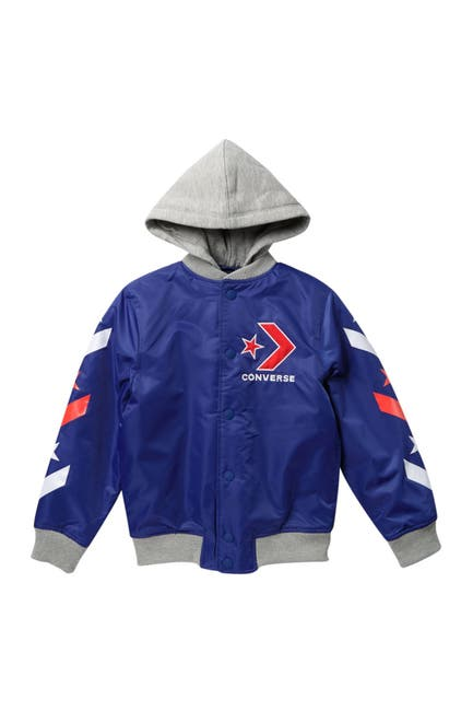 Image of Converse Star Chevron Hooded Bomber Jacket