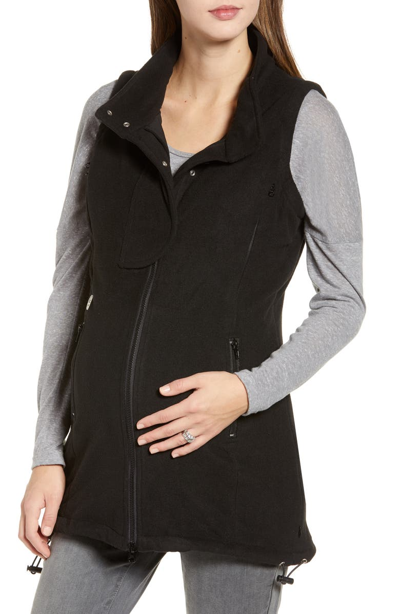 B&ME Booker Maternity Vest, Main, color, BLACK