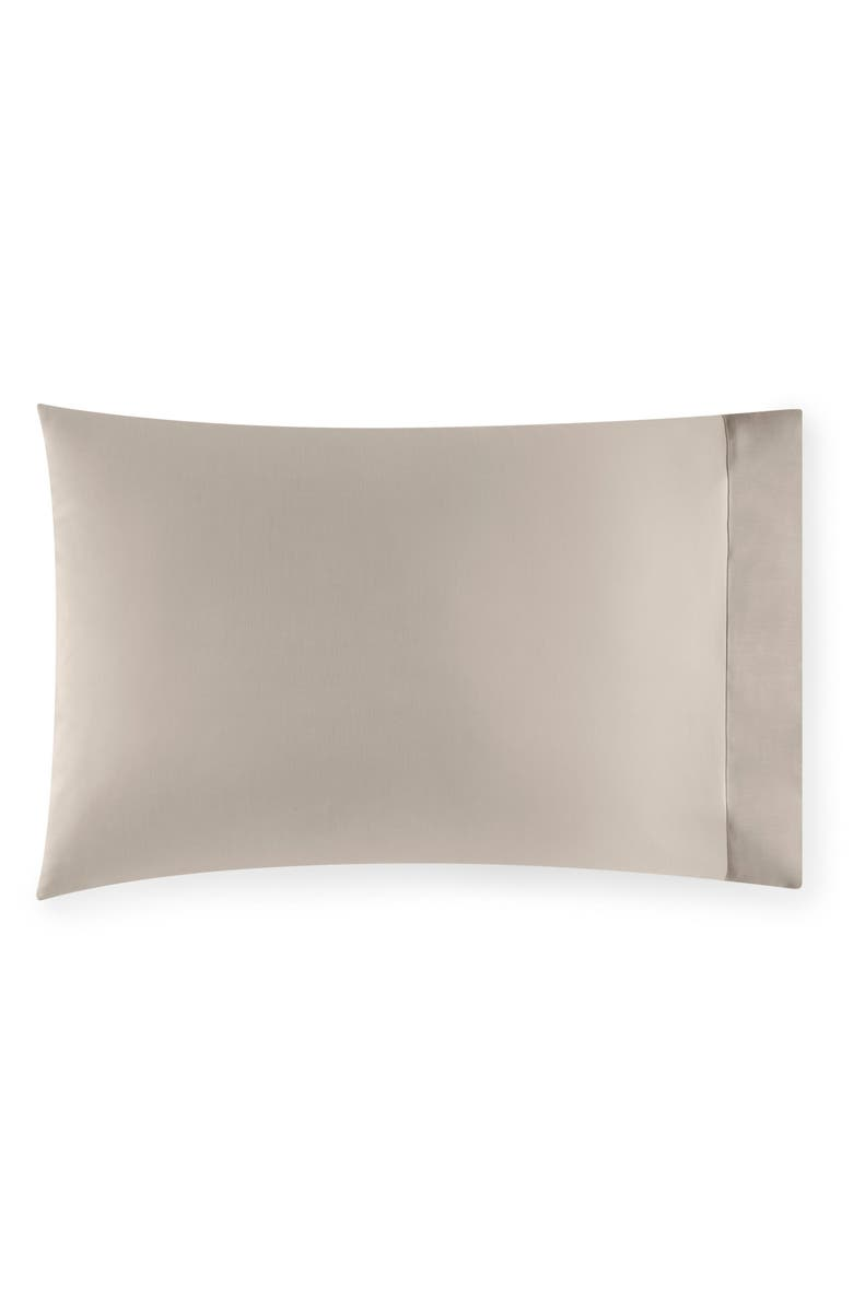 SFERRA Larro Pillowcase, Main, color, NOUGAT