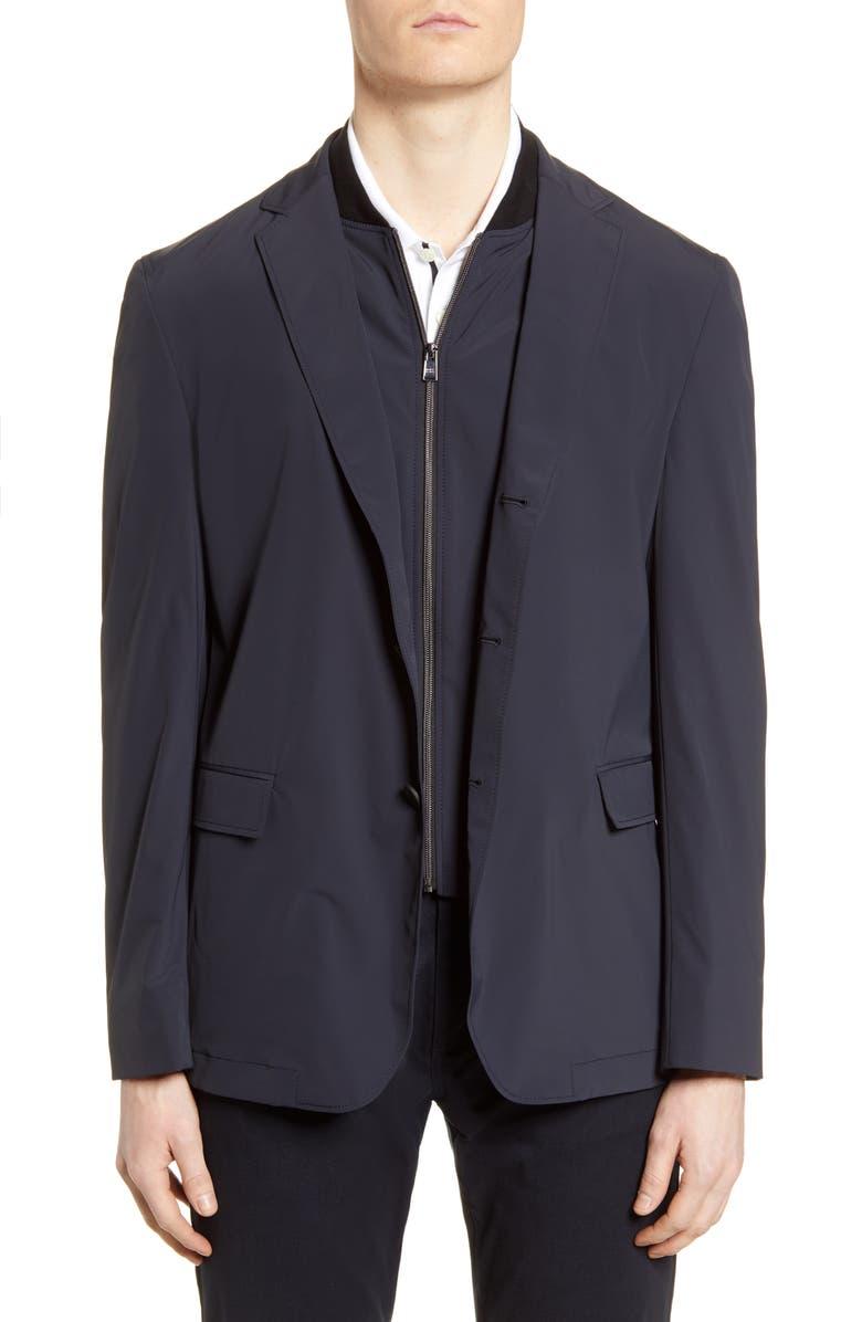 BOSS Hentrik Slim Fit Stretch Solid Sport Coat, Main, color, 402