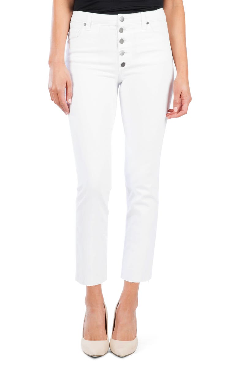 KUT FROM THE KLOTH Reese Button Fly Ankle Slim Jeans, Main, color, 110