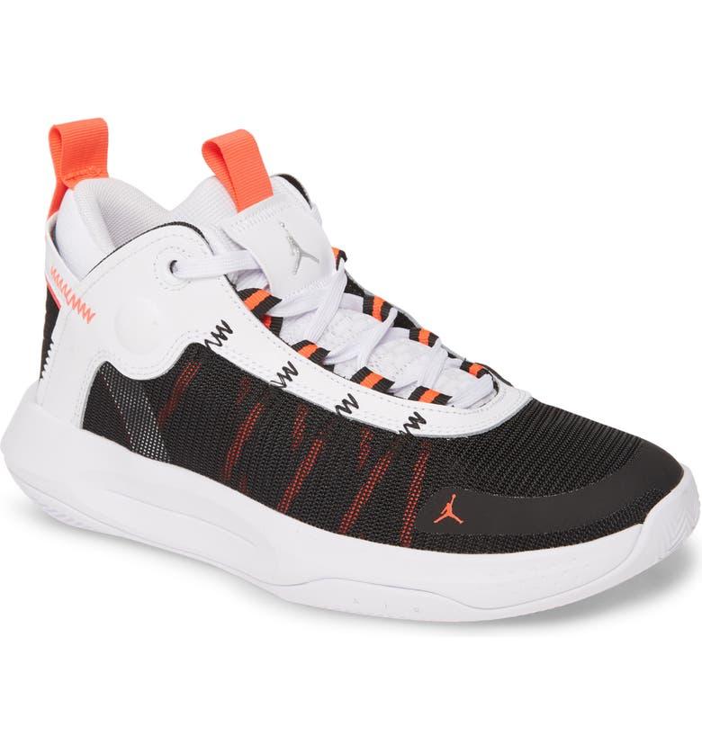 JORDAN Jumpman 2020 GS Basketball Shoe, Main, color, WHITE/ METALLIC SILVER