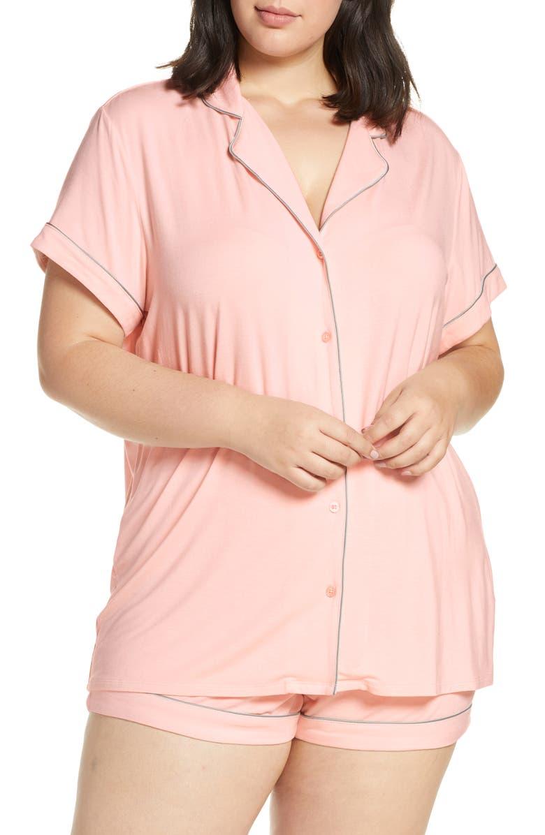 NORDSTROM LINGERIE Moonlight Short Pajamas, Main, color, PINK VEIL ROSE