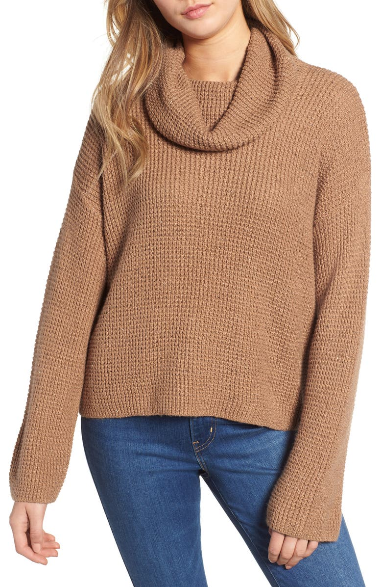 BP. Chunky Thermal Cowl Neck Sweater, Main, color, 230