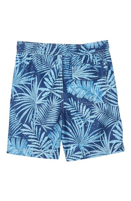 Image of Tommy Bahama Palm Frond Printed Swim Trunks