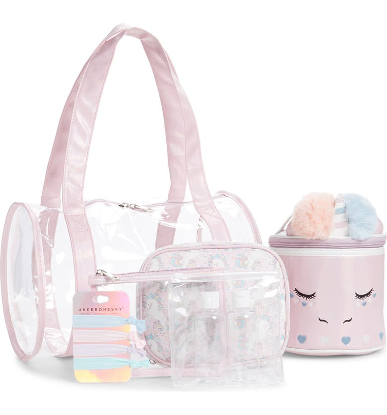 UNDER ONE SKY 6-Piece Unicorn Spa Set, Main, color, PINK IRIDESCENT