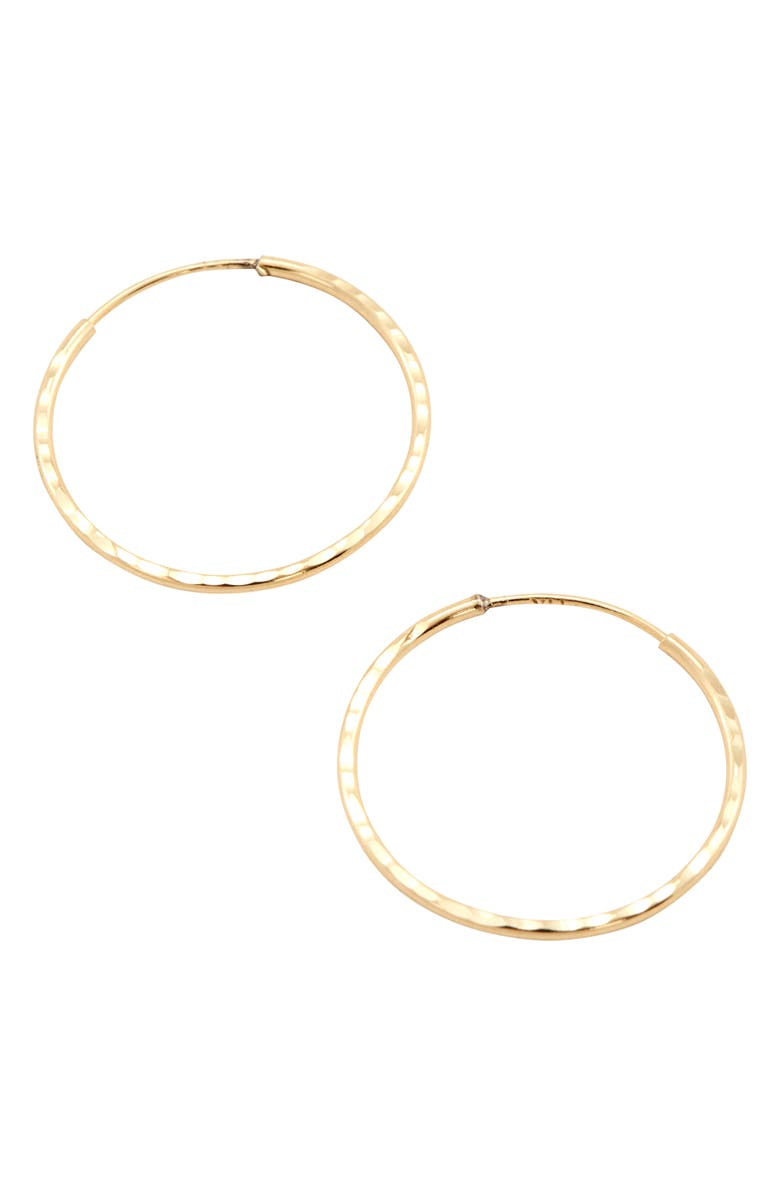 LOREN STEWART Gold Hoop Earrings, Main, color, GOLD