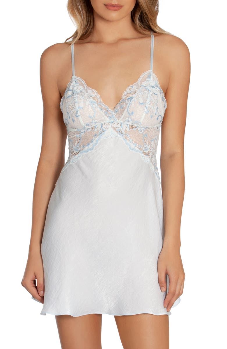 IN BLOOM BY JONQUIL When I Fall In Love Chemise, Main, color, PALE BLUE