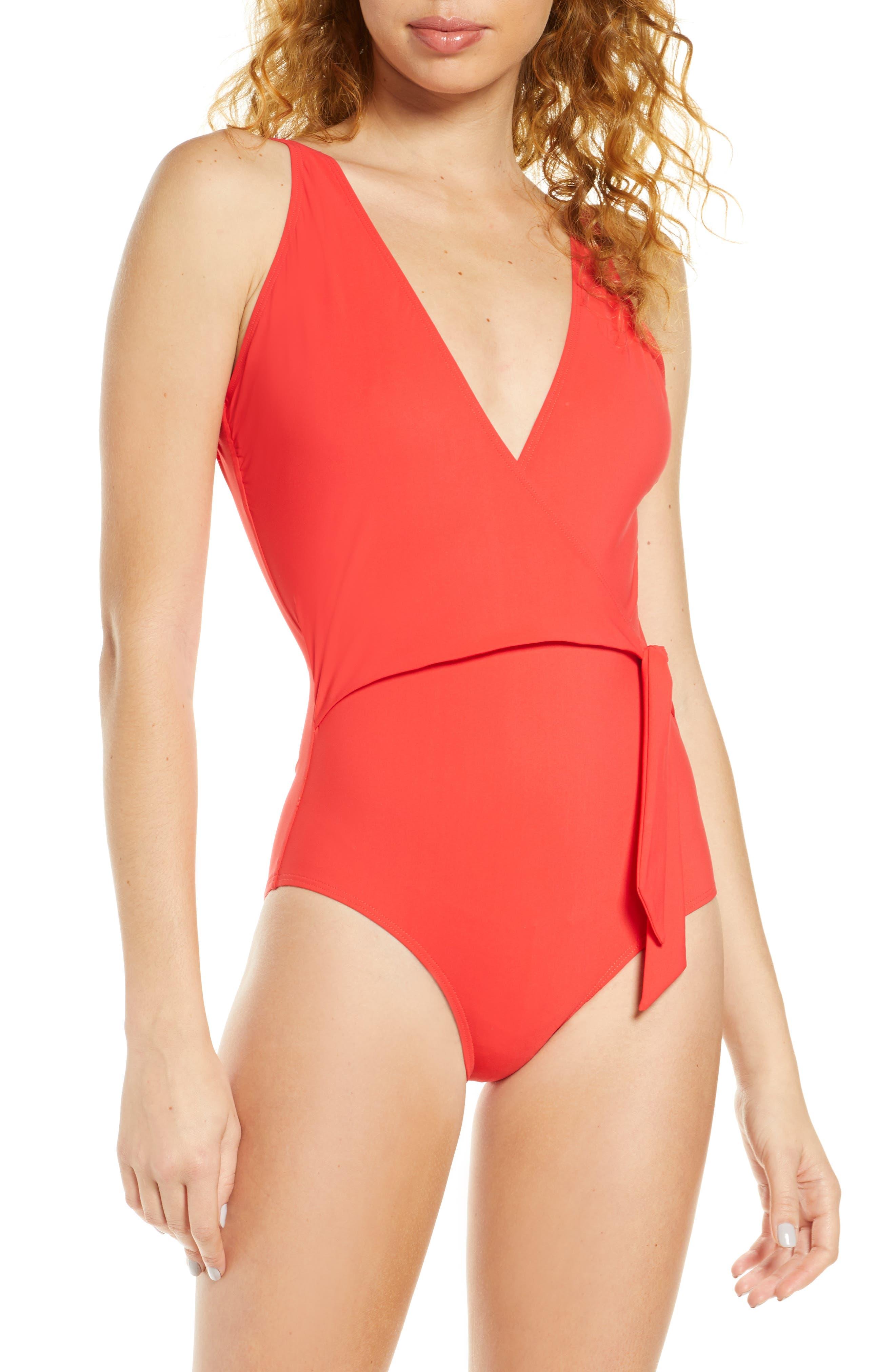 Tory Burch Side Tie One-Piece Swimsuit