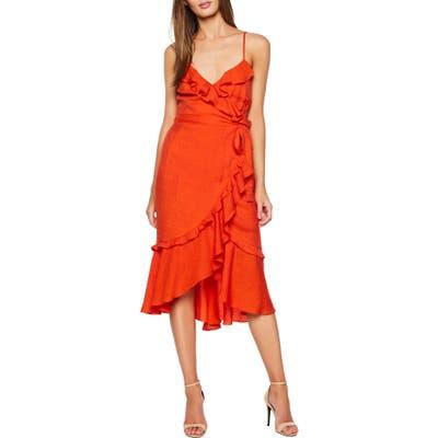 Bardot Zoe Faux Wrap Dress, Orange