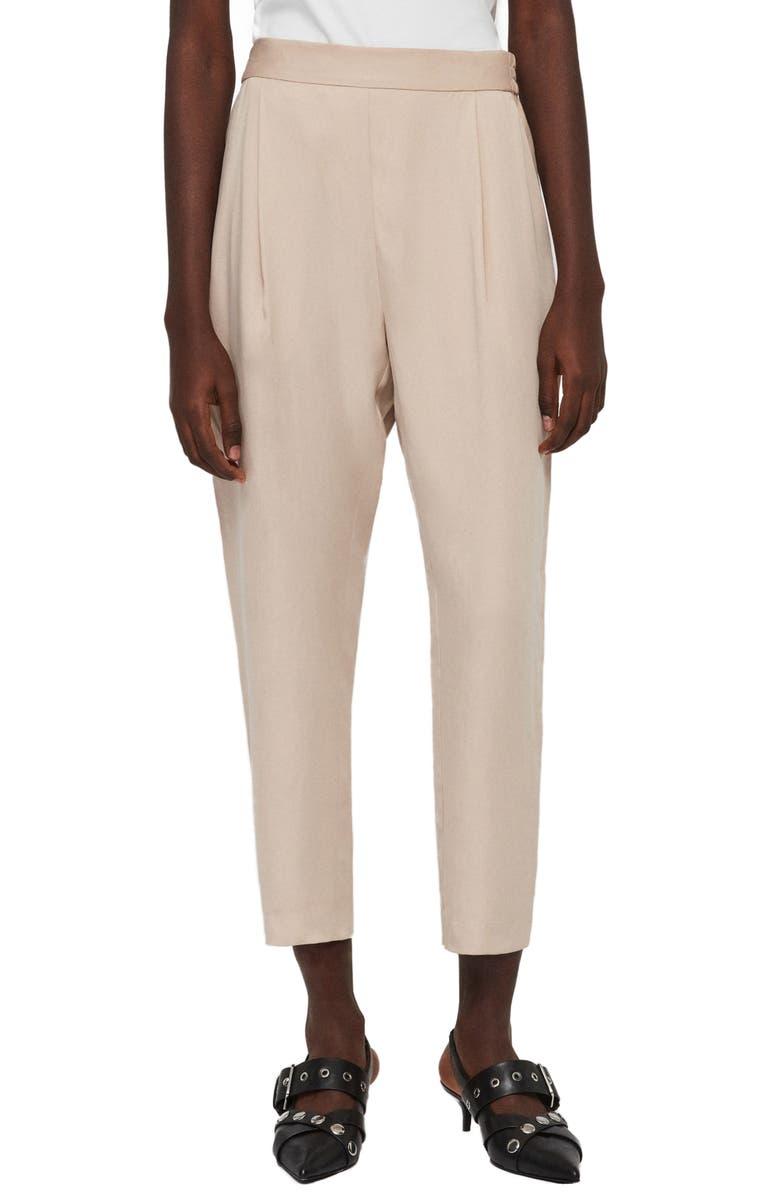 ALLSAINTS Alva Ankle Trousers, Main, color, NUDE PINK