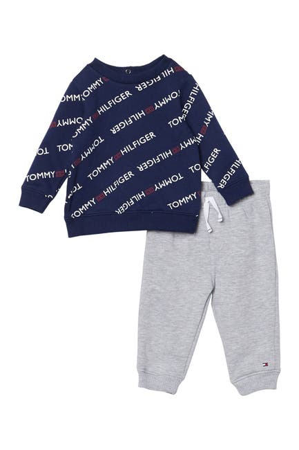 Image of Tommy Hilfiger Logo Sweater & Jogger Set