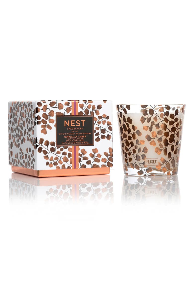 NEST FRAGRANCES Moroccan Amber 3-Wick Candle, Main, color, NO COLOR