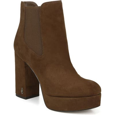 Sam Edelman Abella Platform Chelsea Boot, Brown