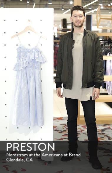 Stripe Poplin Fit & Flare Dress, sales video thumbnail