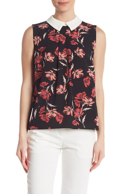 Image of Cynthia Steffe Floral Print Dance Blouse