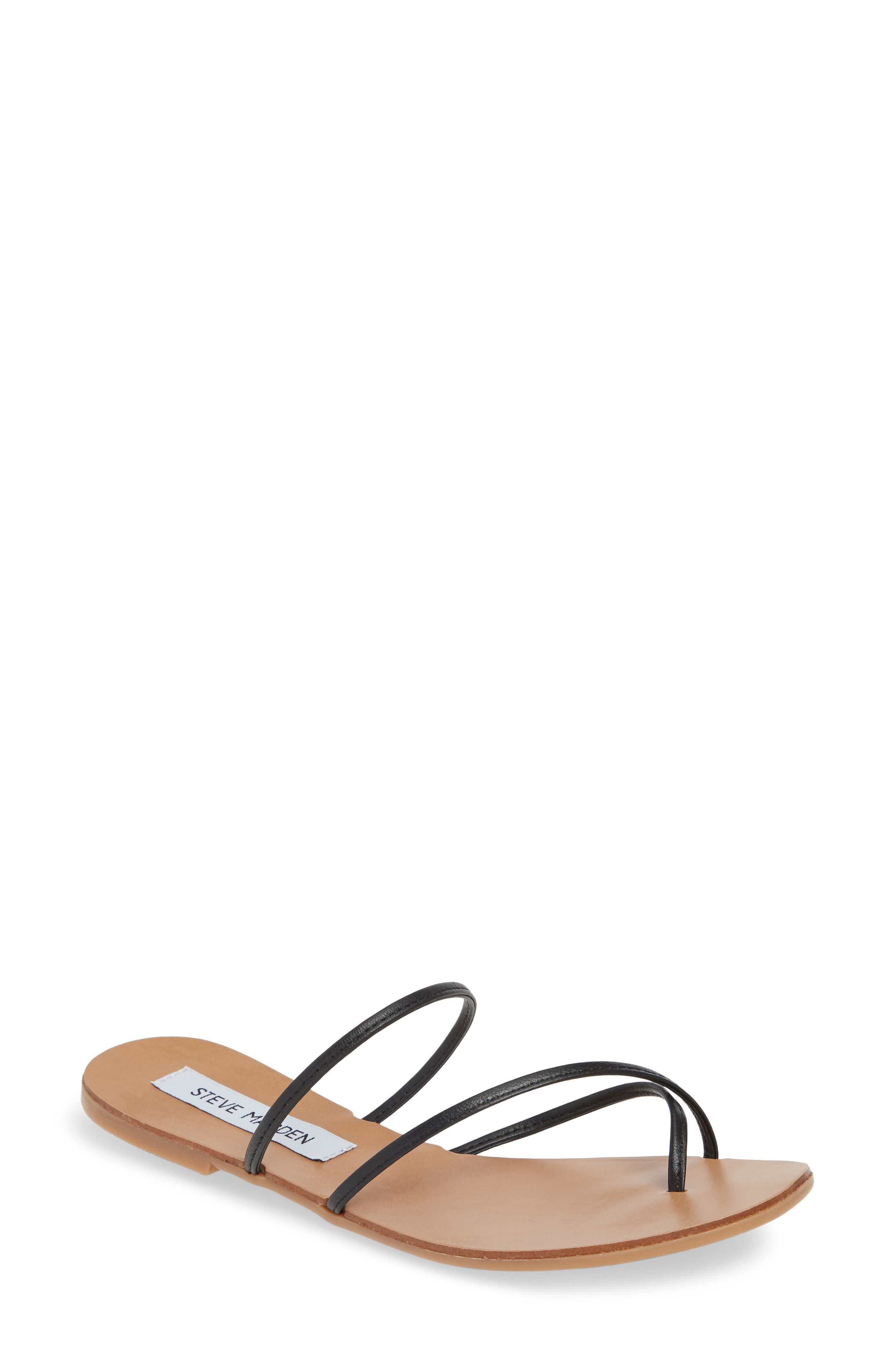 Wise Strappy Slide Sandal, Main, color, BLACK