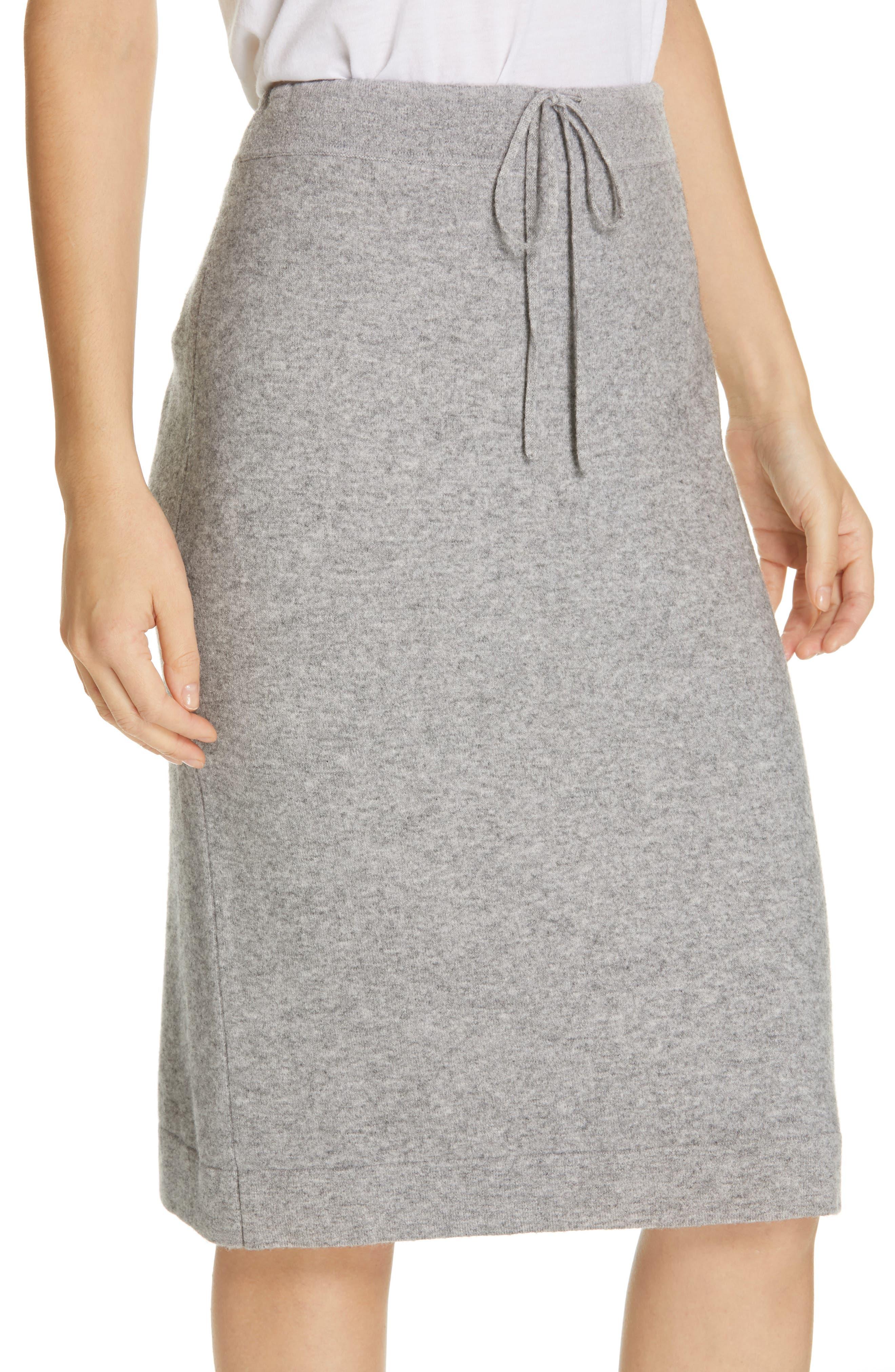 ,                             Knit Skirt,                             Alternate thumbnail 4, color,                             H STEEL