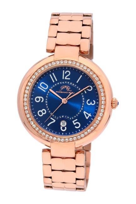 Image of Porsamo Bleu Women's Sofia Swarovski Crystal Accented Quartz Watch, 40mm x 48.7mm