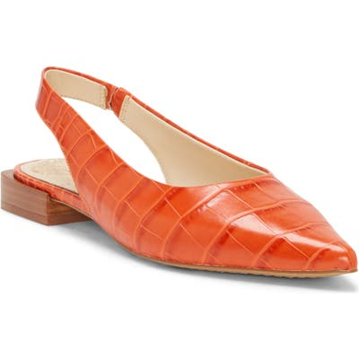 Vince Camuto Chachen Slingback Flat, Orange