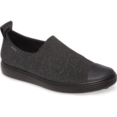 Ecco Soft 7 Gore-Tex Slip-On Sneaker, Grey