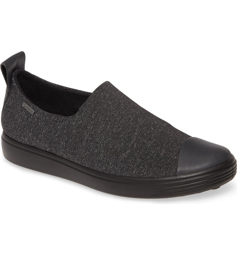 ECCO Soft 7 Gore-Tex<sup>®</sup> Slip-On Sneaker, Main, color, MOONLESS FABRIC/ LEATHER