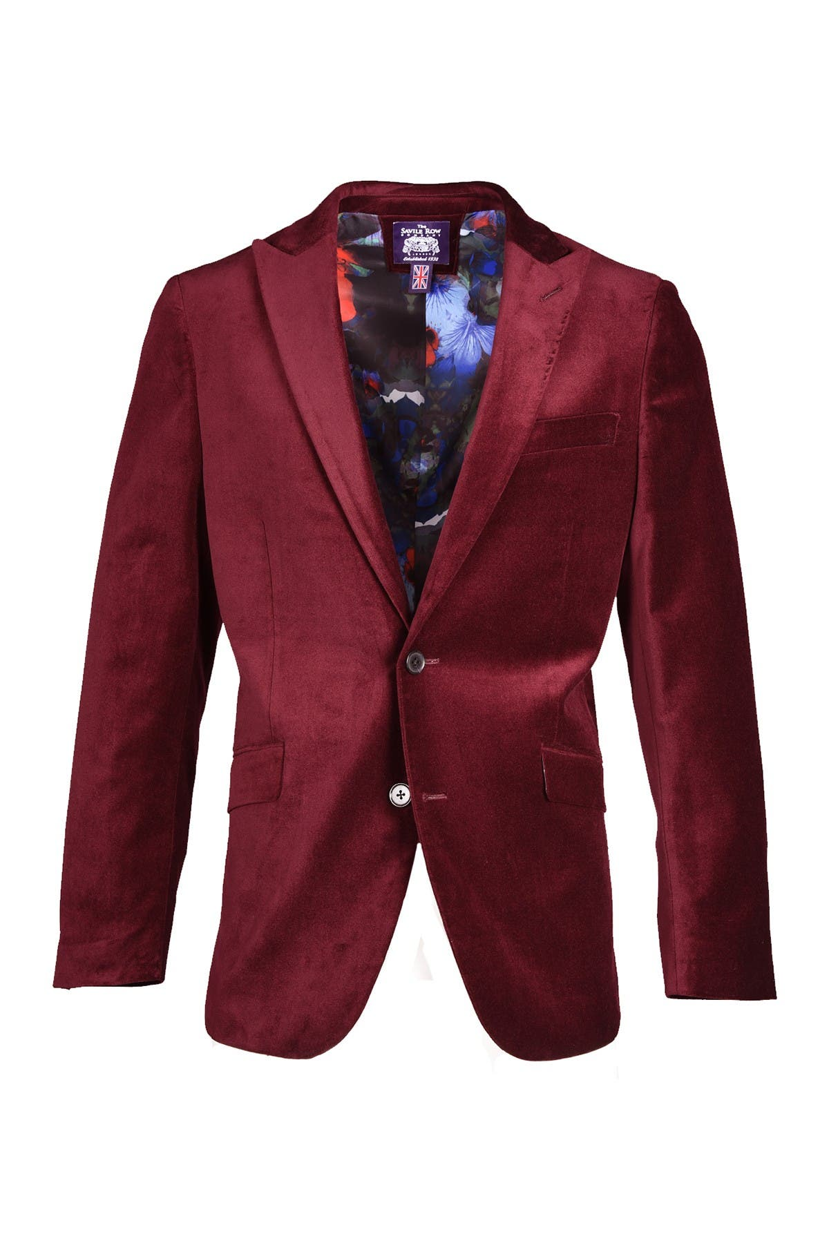 Image of SAVILE ROW CO Velvet Blazer