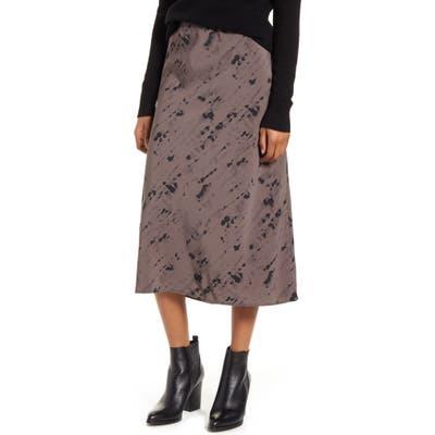 Bobeau Lyndon Bias Cut Midi Skirt, Grey