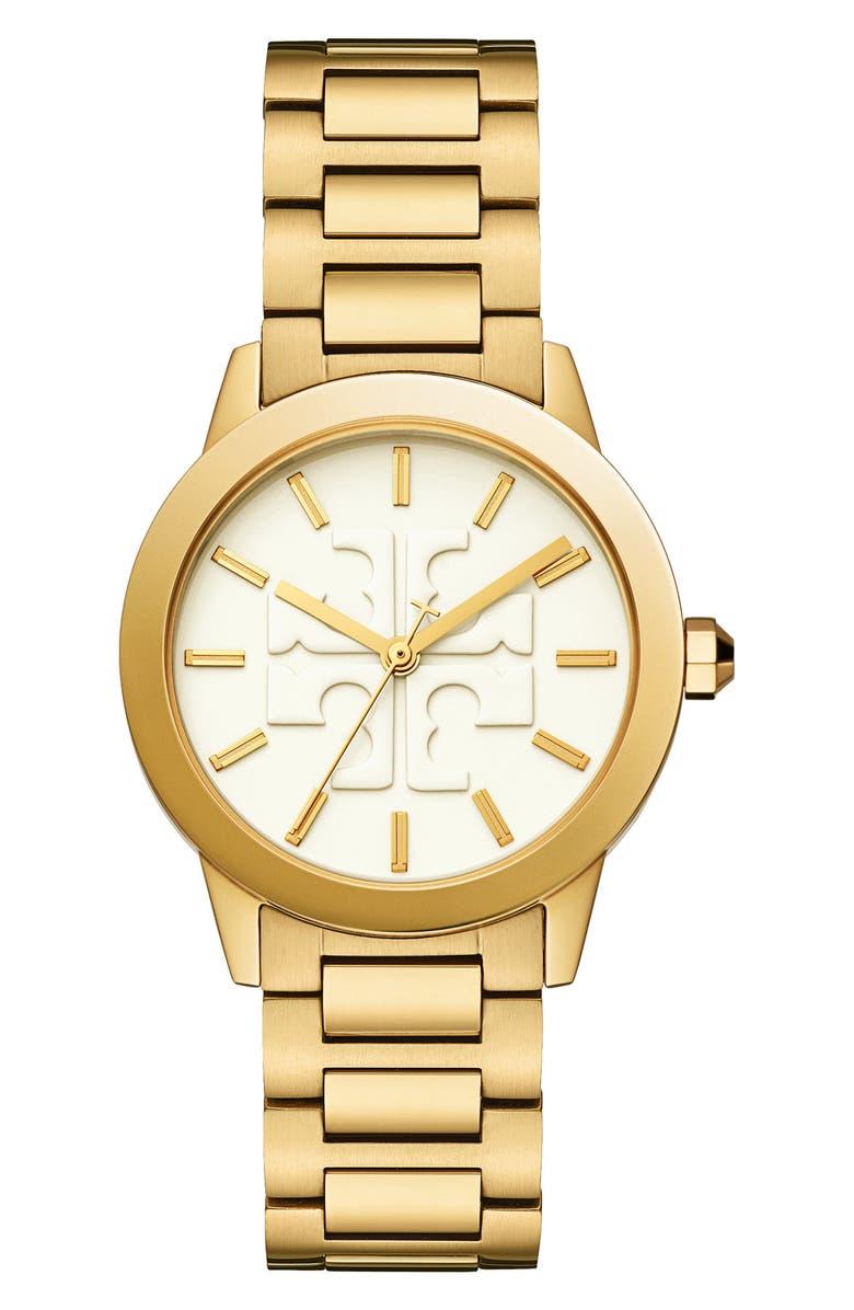 TORY BURCH Gigi Bracelet Watch, 36mm, Main, color, GOLD