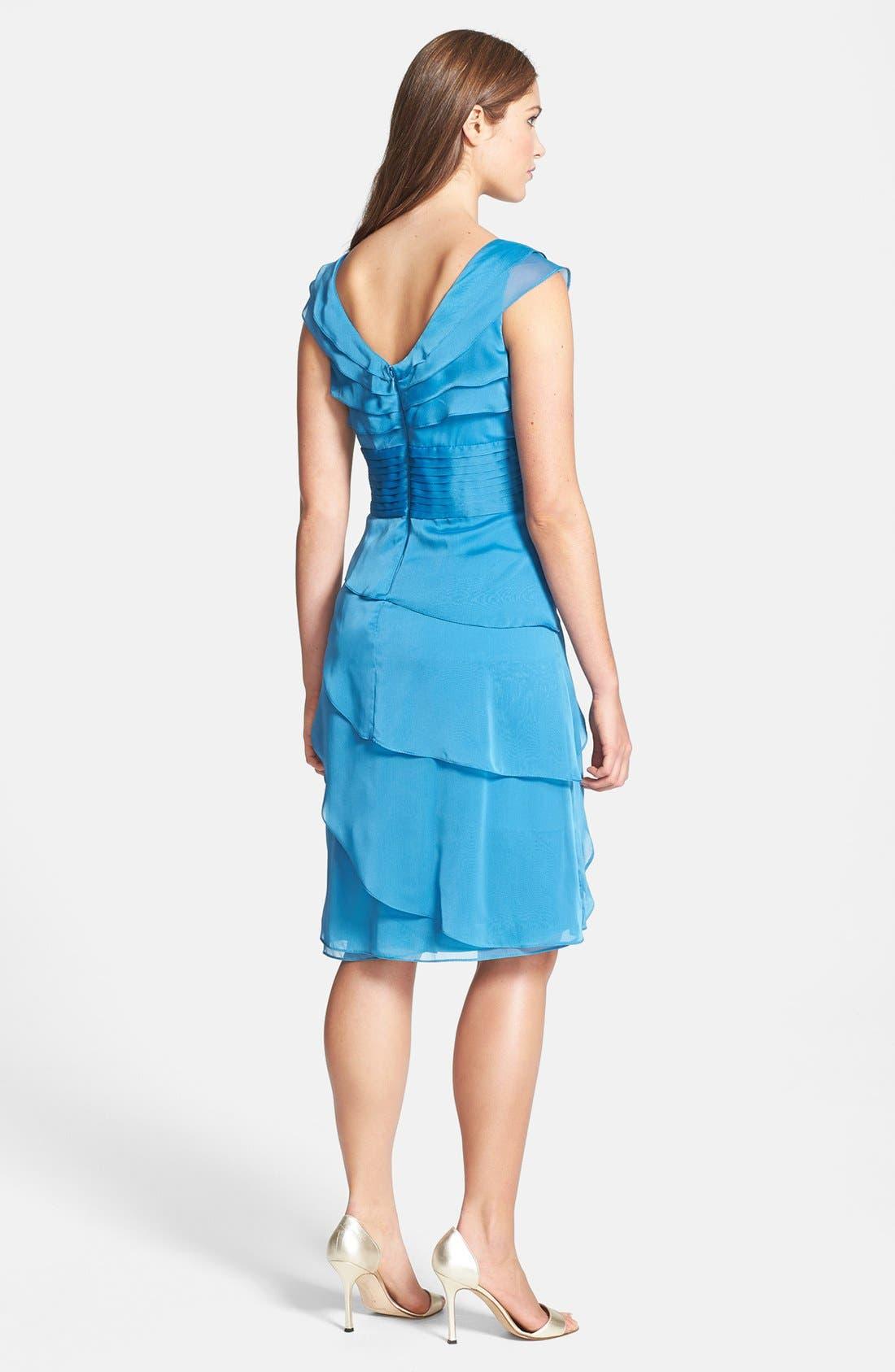 ,                             Tiered Chiffon Dress,                             Alternate thumbnail 22, color,                             415