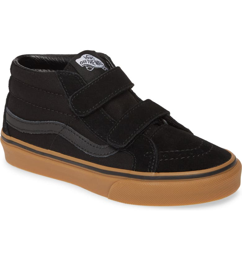 VANS SK8-Mid Reissue V Sneaker, Main, color, BLACK/ GUM