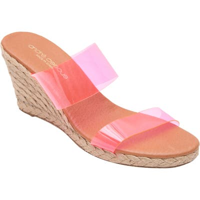 Andre Assous Anfisa Espadrille Wedge, Pink