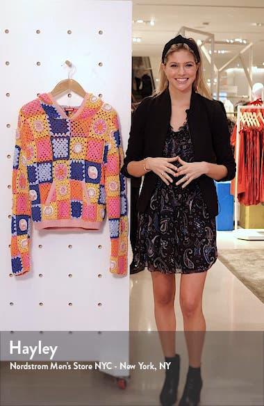 Calla Crochet Hoodie, sales video thumbnail
