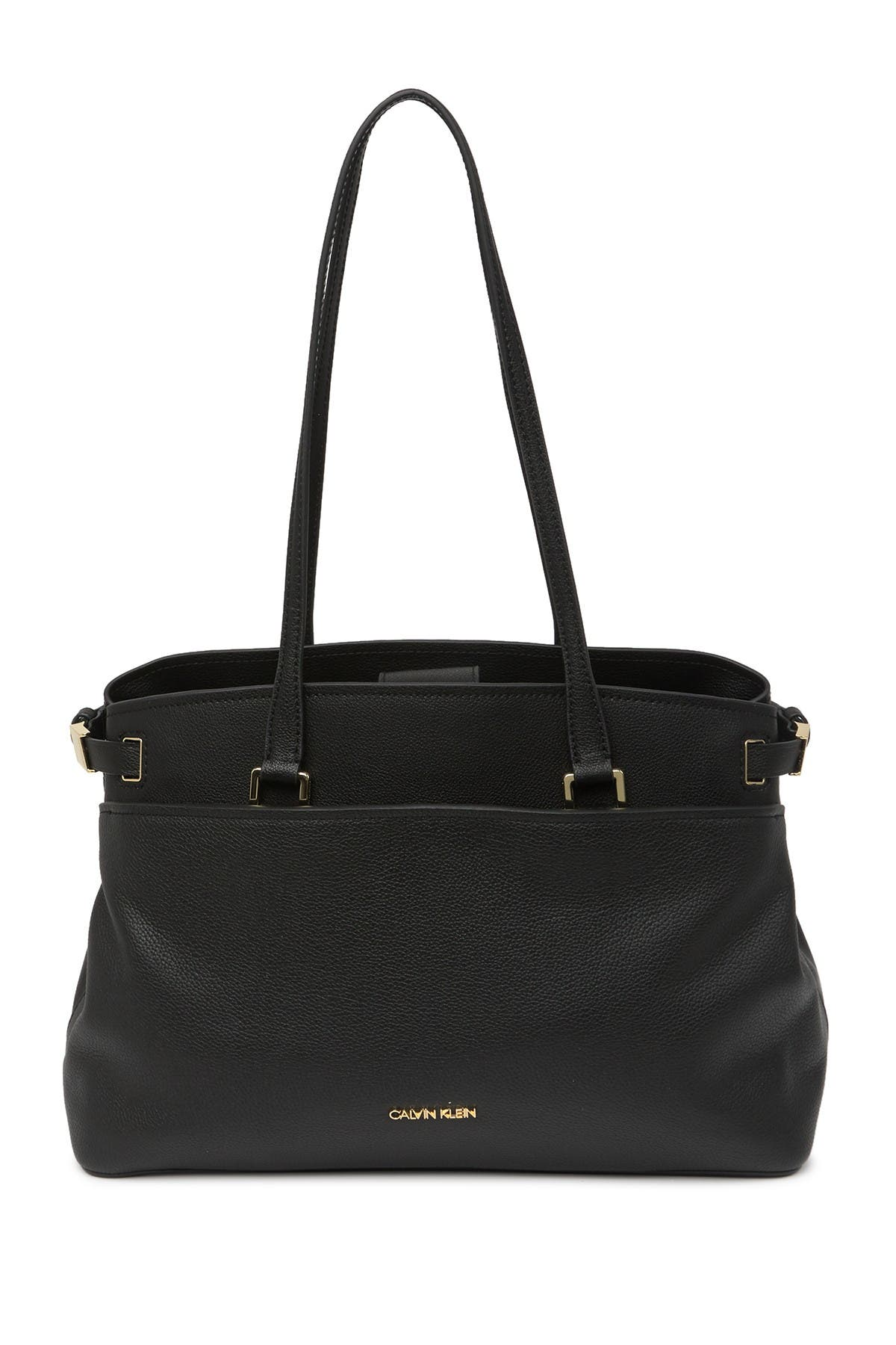 Image of Calvin Klein Avery Micro Pebble Leather Tote