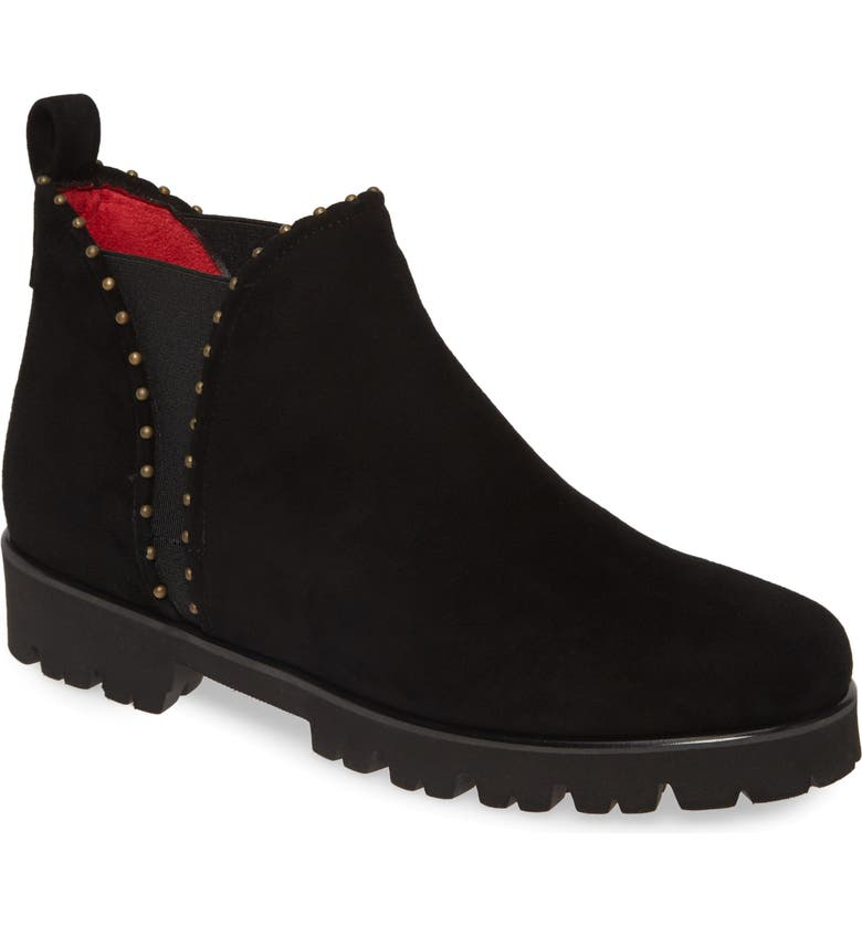 PAS DE ROUGE Marta Bootie, Main, color, BLACK SUEDE