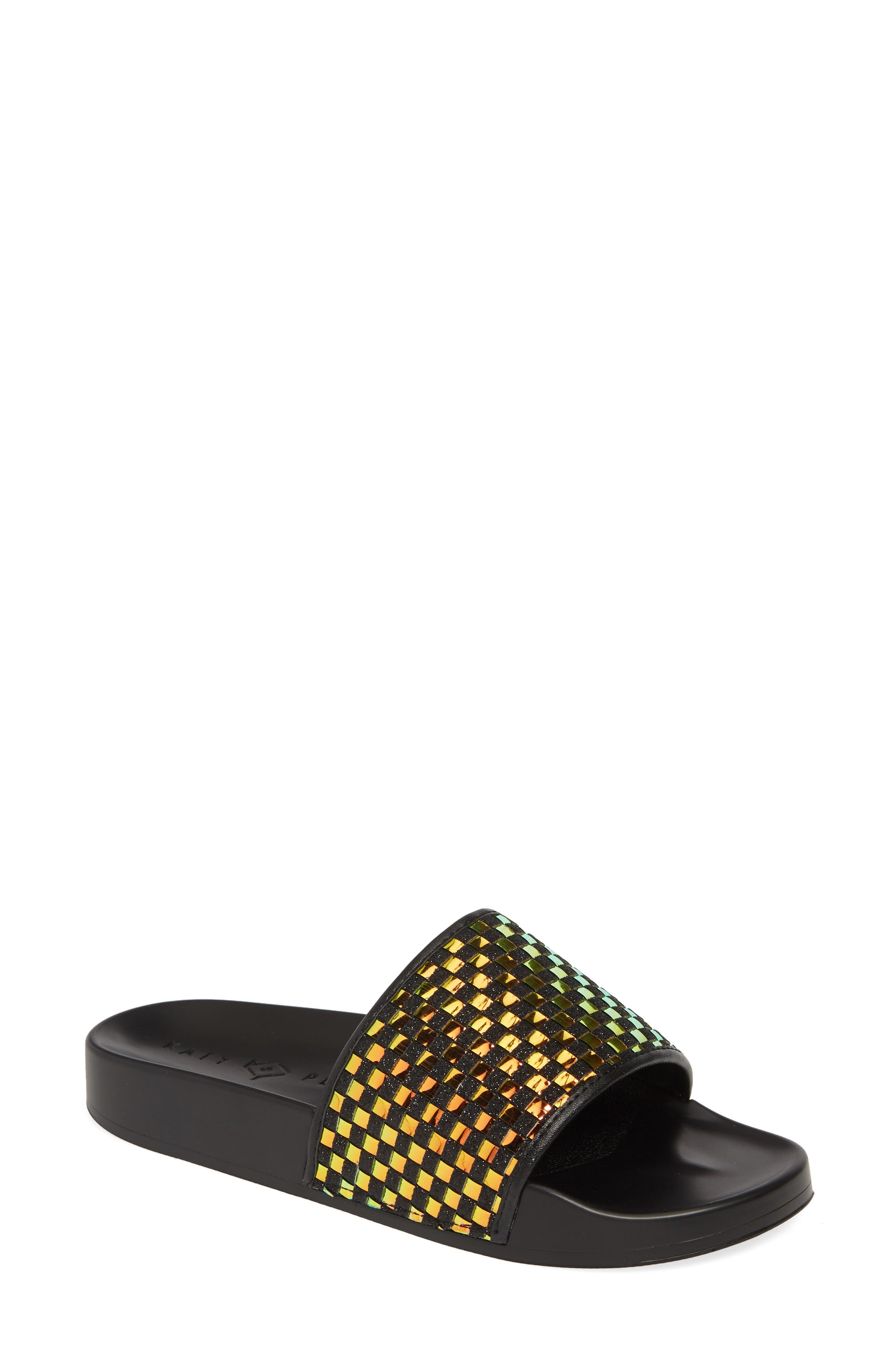women's katy perry the jimmi slide sandal, size 10 m - black