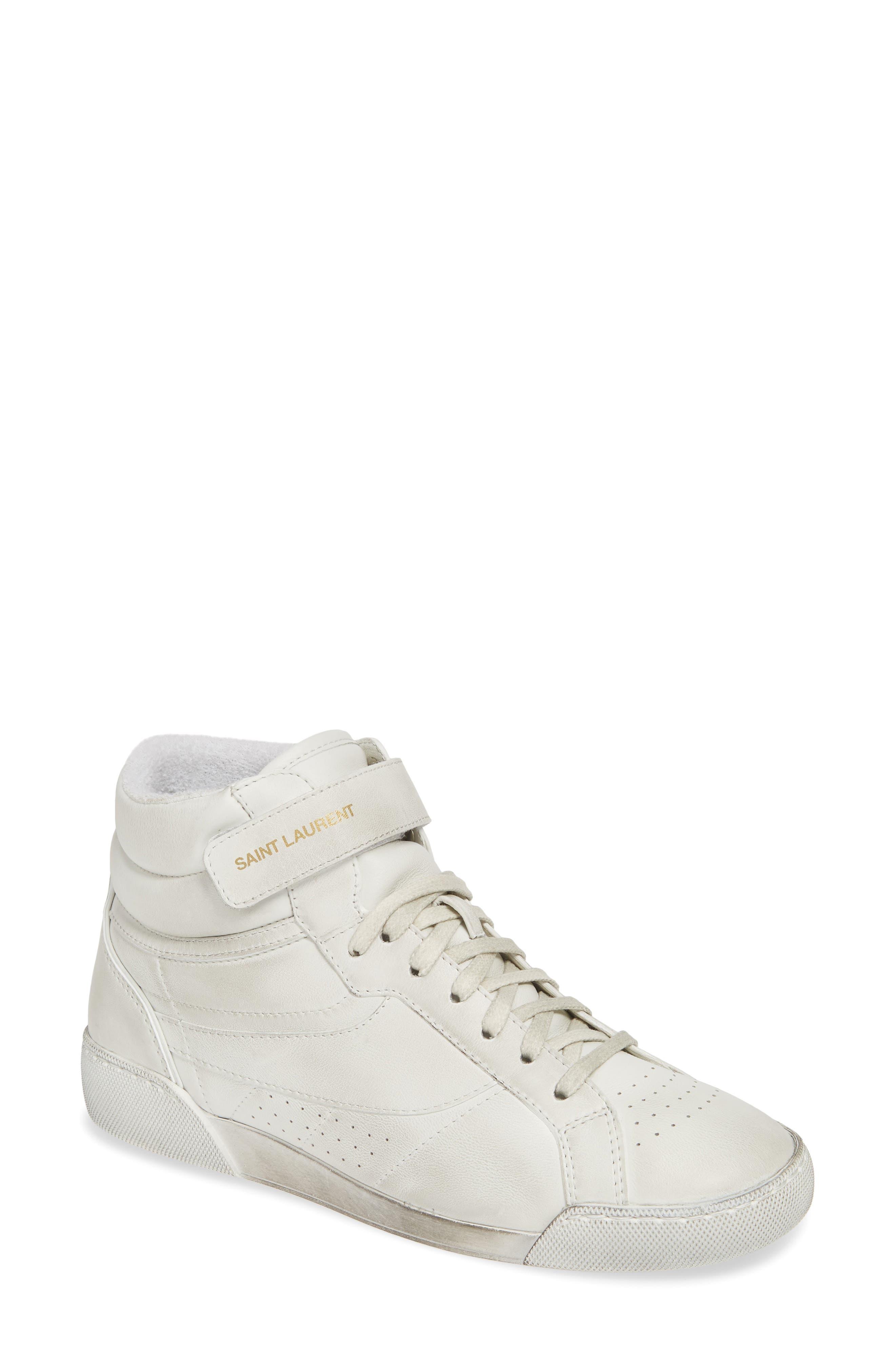 Saint Laurent Lenny Mid-Top Sneaker